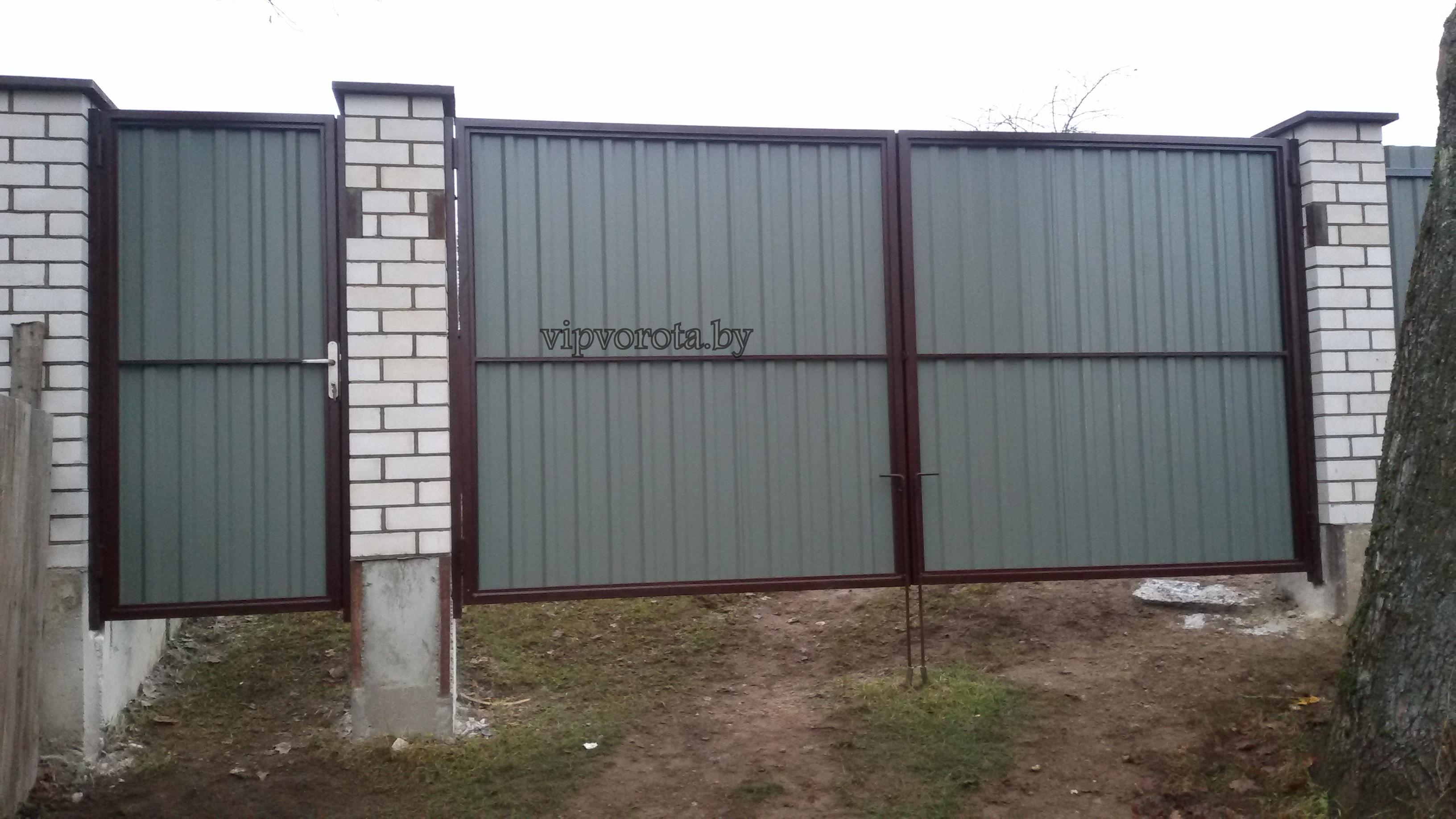Ворота распашные купить Минск