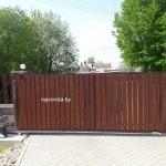 Откатные ворота под дерево в Минске
